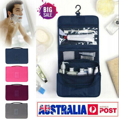 Travel Organizer Makeup Storage Bag Toiletry Case Hanging Wash Pouch Cosmetic AU