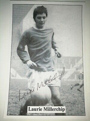 Laurie Millerchip Hand Signed Autograph 6X4 Player Photo Manchester United