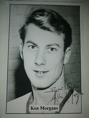 Ken Morgans Hand Signed Autograph 6X4 Player Photo Manchester United