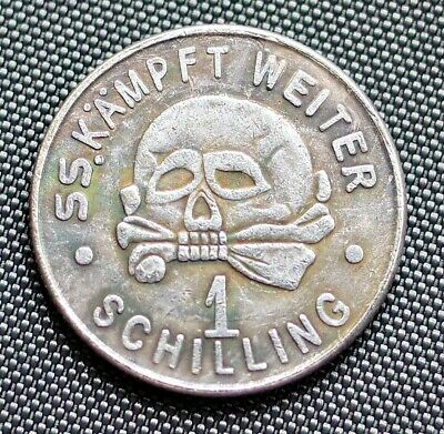1 Schilling Ss Kantinegeld Adolf Hitler German Collector Coin Third Reich Ww2