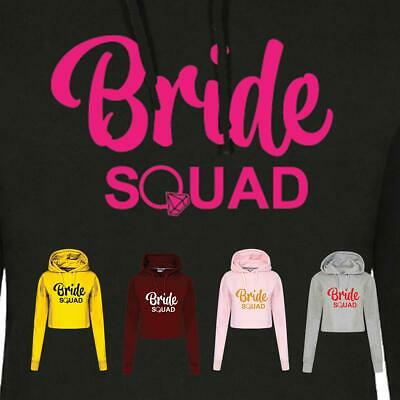 Bride Squad Crop Hoodie for Ladies Marriage Friends Bridal Shower Gift Inspired