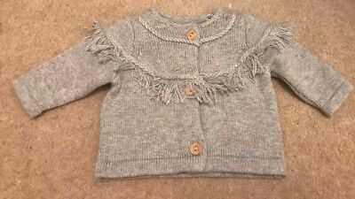 Mothercare Baby's Unisex 💜Grey Marl Cardigan 💜New Baby💎New 💎