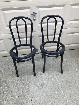 PAIR Vintage BENTWOOD BISTRO CHAIRs thonet Style antique parlor