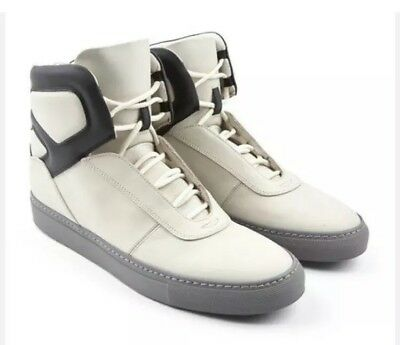 Cipher Sentient Matt Multi Grey Leather Men/'s Lace-Up High Top Trainers
