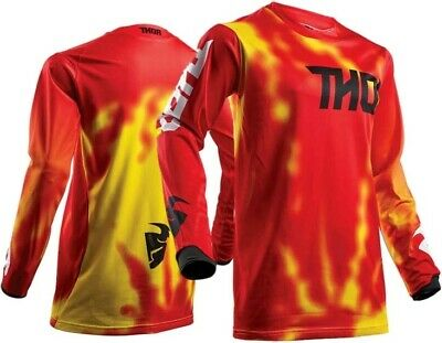Thor MX Pulse Air RADIATE Motocross Race Jersey Red Adult Small