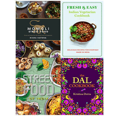 Mowgli Street Food,Fresh & Easy Indian,The Dal Cookbook 4 Books Collection Set