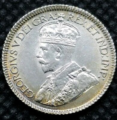 1920 Canada 10 Cents   BRILLIANT UNCIRCULATED   Great Luster!