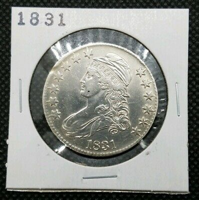 1831 Bust Half Dollar | ALMOST UNCIRCULATED Detail | Great Detail!