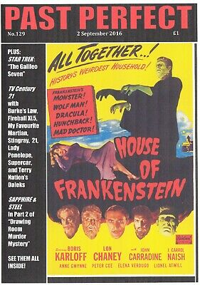 Past Perfect #129 TV21 THUNDERBIRDS HOUSE OF FRANKENSTEIN DRACULA WOLFMAN KARLOF