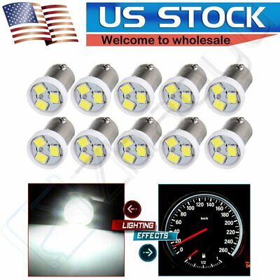 10X Super White BA9S 3SMD LED Dash Instrument Light 1815 57 363 Bulb Replacement
