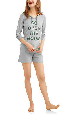 Toast & Jammies Women's Hoodie + Shorts PJ Sleep Lounge Set, 2-Piece