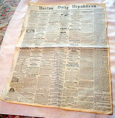 October 14, 1848 Boston Daily Republican Newspaper