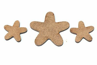 Wooden MDF Starfish Shapes Bunting Craft Embellishments Holiday Sea Decorations