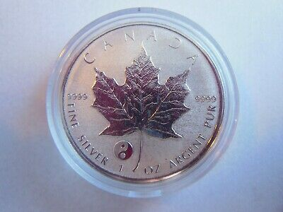 2016 Canada 1 oz Silver Maple ~ Ying Yang Privy ~ Royal Canadian Mint w/capsule