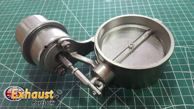Stainless Steel Exhaust Control Valve Set Vacuum Actuator Boost Sound Butterfly