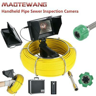 4.3inch 30M 22mm Drain Pipe Sewer Inspection 145° Camera 6W LED Lights 4400MAH