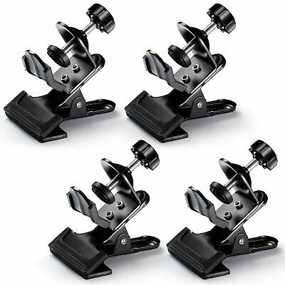 Neewer® 4 Pack Multi-Functional Black Clamp Clip Holder with U-Clamp