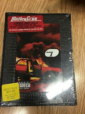 Motley Crue Music To Crash Your Car To Vol.1 4 CD Box Set Dirt Movie Leathur NEW