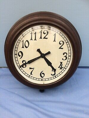 british army military broad arrow wall Clock 1940's wind up Bakelite Case