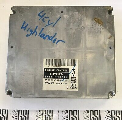 01 02 03 Toyota Highlander Engine Control Unit ECU ECM Module Denso 89661-48231