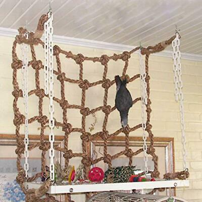 Parrot Bird Cage Hanging Rope Climbing Perch Play Gym Swing Ladder 40*40cm