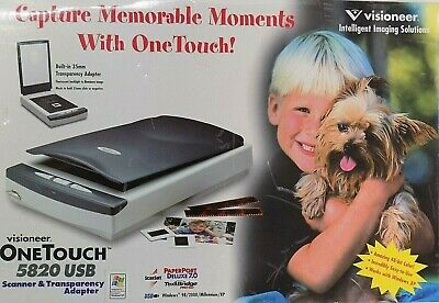 *BRAND NEW* Visioneer OneTouch 5820 USB Scanner and Transparency Adapter