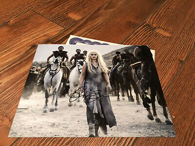 EMILIA CLARKE GAME OF THRONES Genuine Signed 10x8 photo Real Autograph & COA