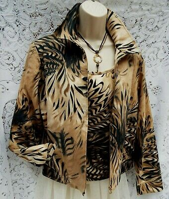 ☆NIENHAUS&LOTZ Germany ☆ Beautiful Quality Vest & Jacket Set  Animal Print UK 10
