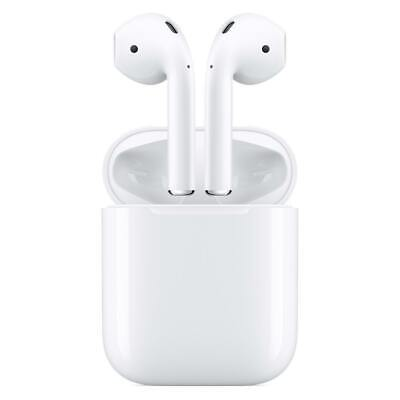 New Apple AirPods White MV7N2AM/A In Ear Bluetooth Headset W/ Charging Case