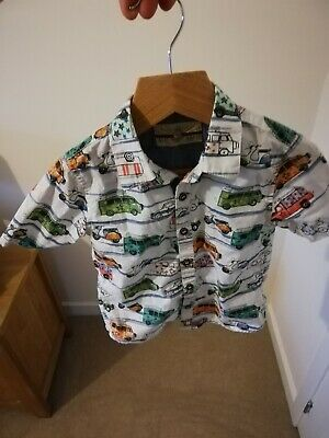 Great Boys Next Cars Button Up Shirt, Age 1.5/2 Years!