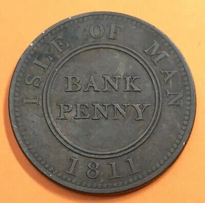 Isle Of Man 1811 Bank Penny Token Coin *M035