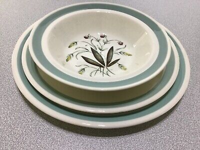 Alfred Meakin Hedgerow. Trio. Bowl, Salad Plate & Dinner Plate.