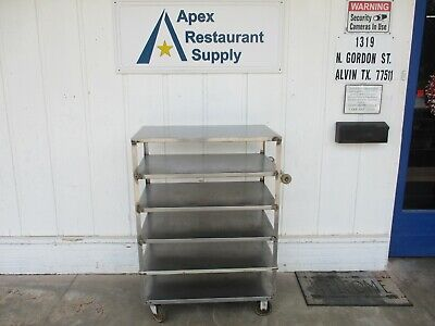 Stainless rolling transport cart. 6 tier. 36 x 21 x 50 #4288