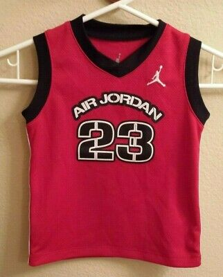 Used Nike Air Jordan Jumpman 24 mo Baby Toddler Basketball Jersey Red Tank Shirt