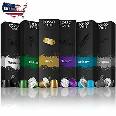 Coffee Capsules For Nespresso Original Line Machines Variety Pack 60 Pod Rosso