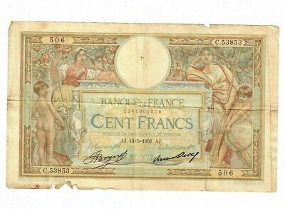 France Third Republic Thru WWII Banque de France 100 Francs 13.5.1937