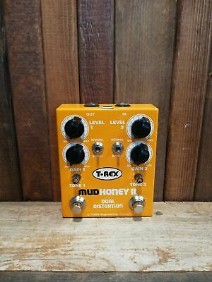 T-Rex Engineering Mudhoney II Dual Distortion Effect Pedal for Electric Guitar