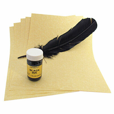 NEW MONEY DRAWING Spell Writing Kit w/ Parchment, Green Ink
