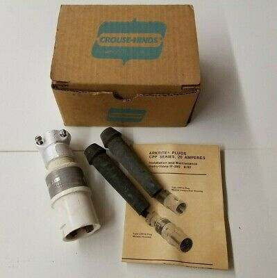 CROUSE-HINDS ARKTITE PLUG FOR HAZARDOUS LOCATION CPP-412 NSN 5935-00-494-0658