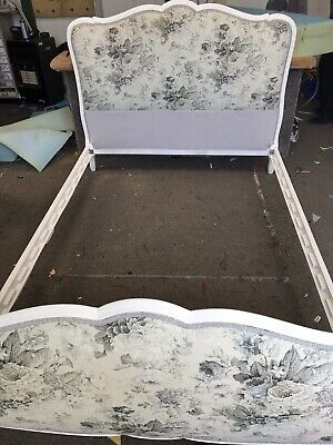 Double french bed Reupholstered Headboard And Bottom See Description