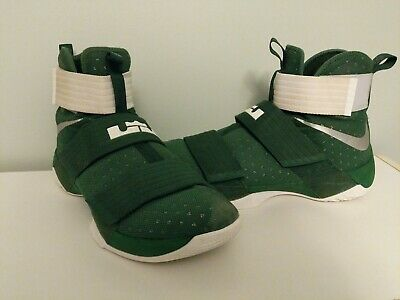 lowest price 6e2fe daf41 SIZE 11.5 NIKE LeBron Soldier 12 Green/White