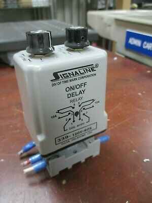 339-120V-10S Signaline Time Delay Relay with IDEC Base  /< Timemark Model