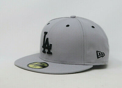 2d5cfb65 New Era 59Fifty Hat Kids Youth MLB Los Angeles Dodgers Gray Black Fitted Cap