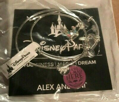 New Disney Parks We're All Mad Here & Tea Cup Alice Alex and Ani Bracelet Set