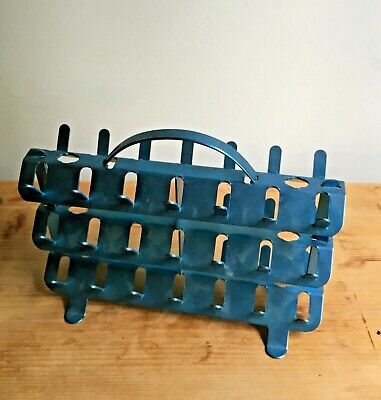 Vintage Blue Aluminum Sewing Thread Spool Holder with Handle Zierold Manuf. Co.
