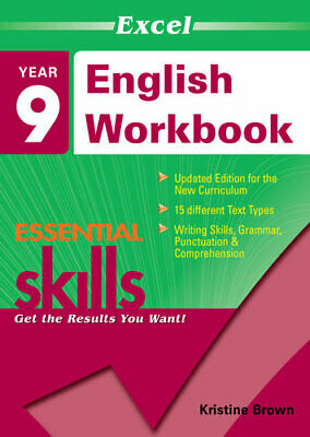 NEW Excel Essential Skills - English Workbook : Year 9 By Excel Paperback