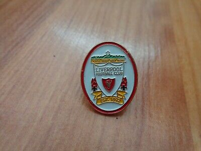 Classic Vintage Liverpool Fc Liverbird White Crest Football Enamel Pin Badge