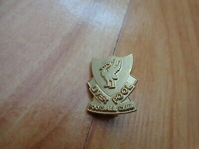 Classic Liverpool Fc Gold Liverbird Crest Emblem Football Enamel Pin Badge