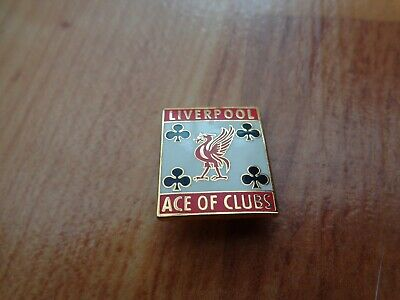Classic Liverpool Fc Liverbird Crest 'Ace Of Clubs' Football Enamel Pin Badge