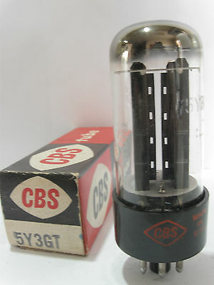 One 1960 CBS 5Y3GT Rectifier tube - TV7D tested @ 56/52, min: 40/40